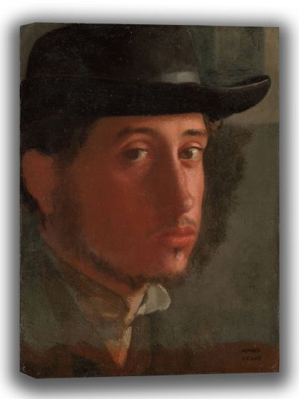 Degas, Edgar: Self-Portrait. Fine Art Canvas. Sizes: A4/A3/A2/A1 (003760)